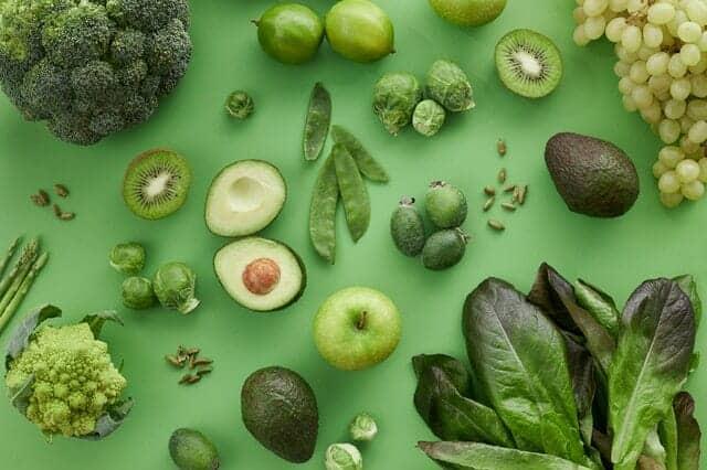 Πράσινα φρούτα και λαχανικά